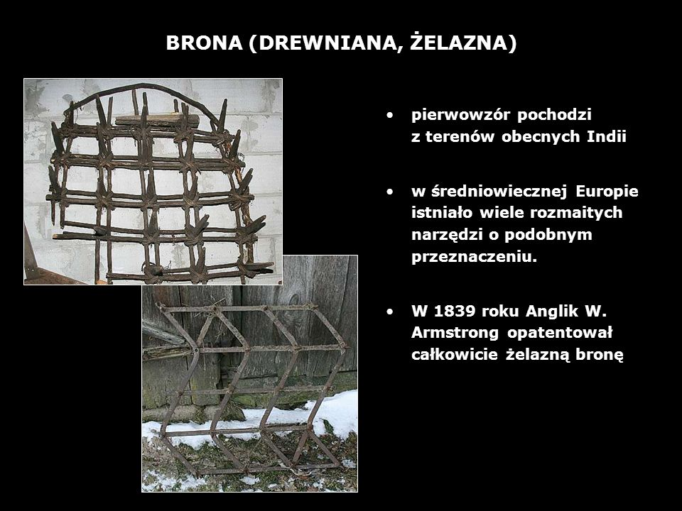 BRONA (DREWNIANA, ŻELAZNA)