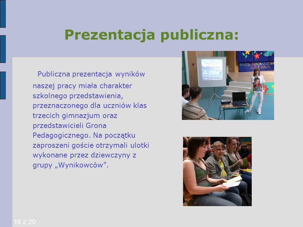 Prezentacja publiczna: