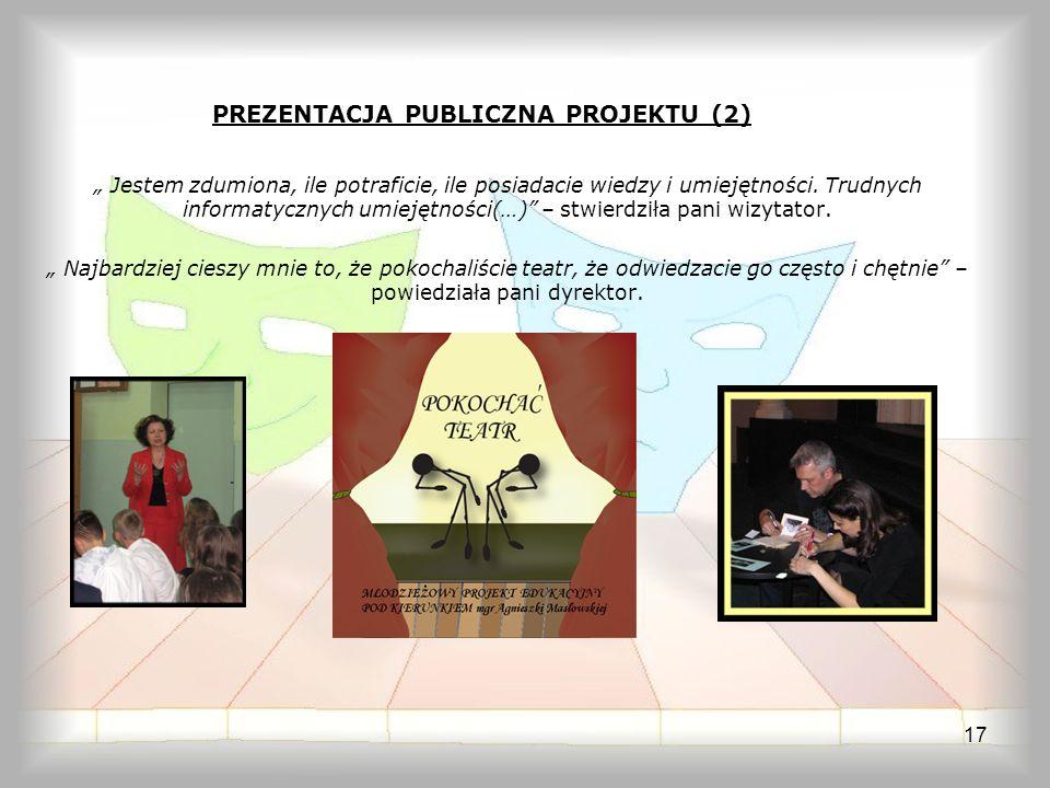PREZENTACJA PUBLICZNA PROJEKTU (2)