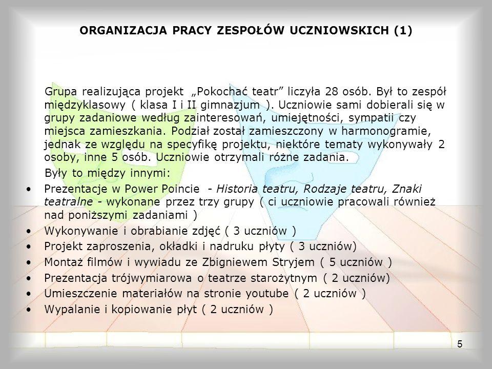 ORGANIZACJA PRACY ZESPOŁÓW UCZNIOWSKICH (1)