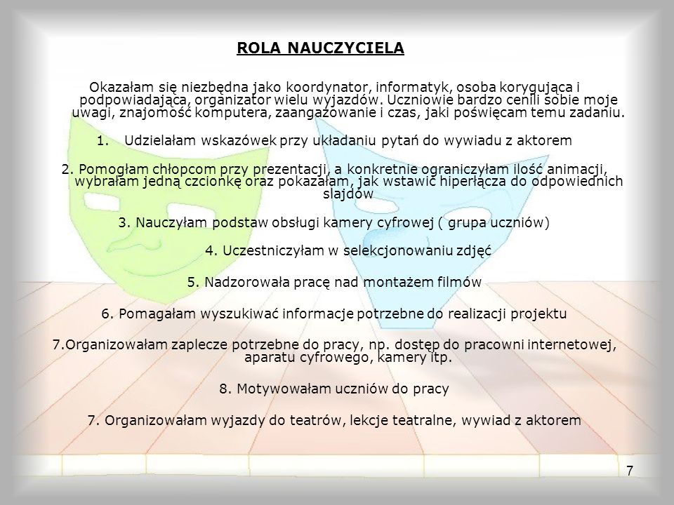ROLA NAUCZYCIELA