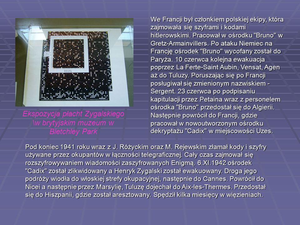 Ekspozycja płacht Zygalskiego \w brytyjskim muzeum w Bletchley Park