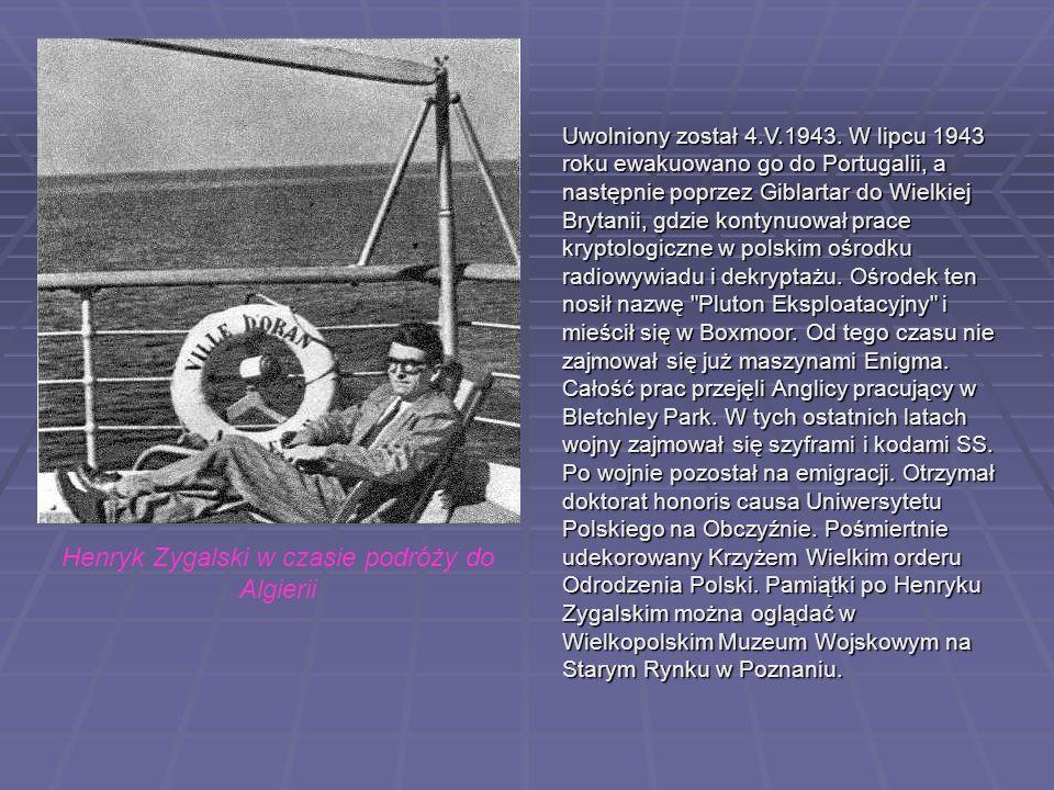 Henryk Zygalski w czasie podróży do Algierii