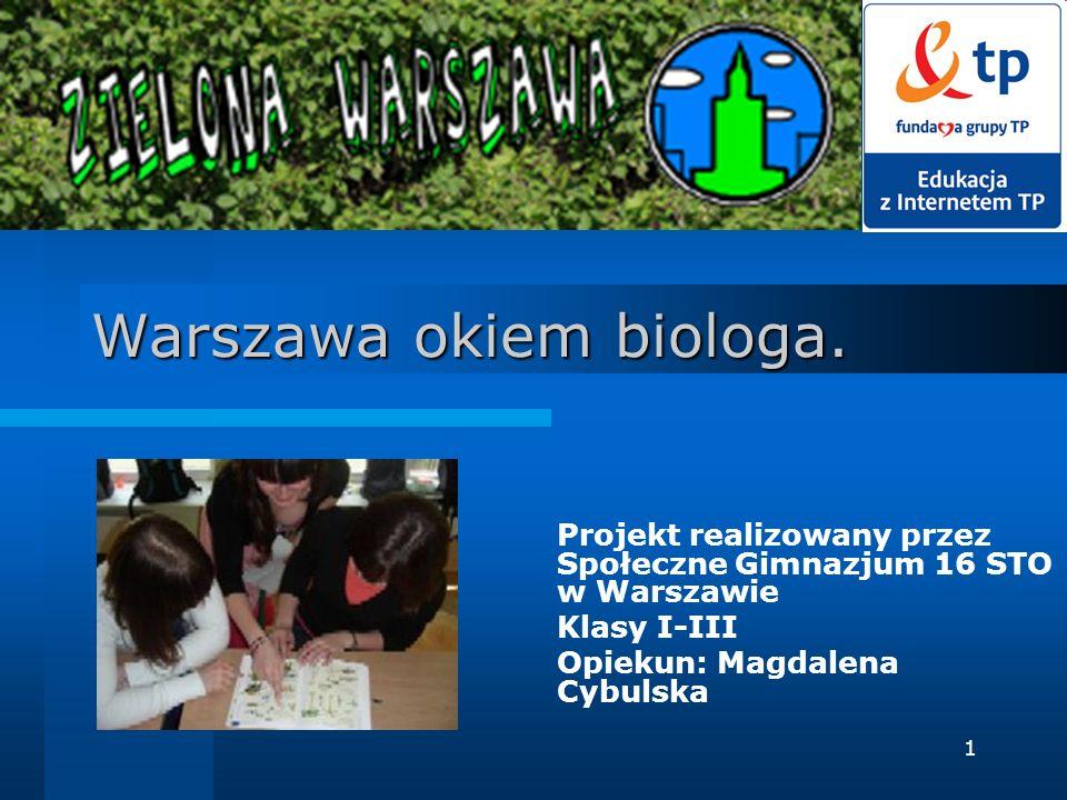 Warszawa okiem biologa.