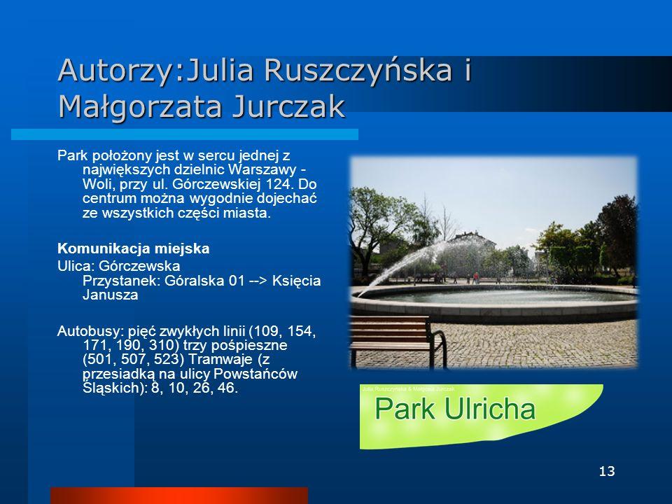 Autorzy:Julia Ruszczyńska i Małgorzata Jurczak