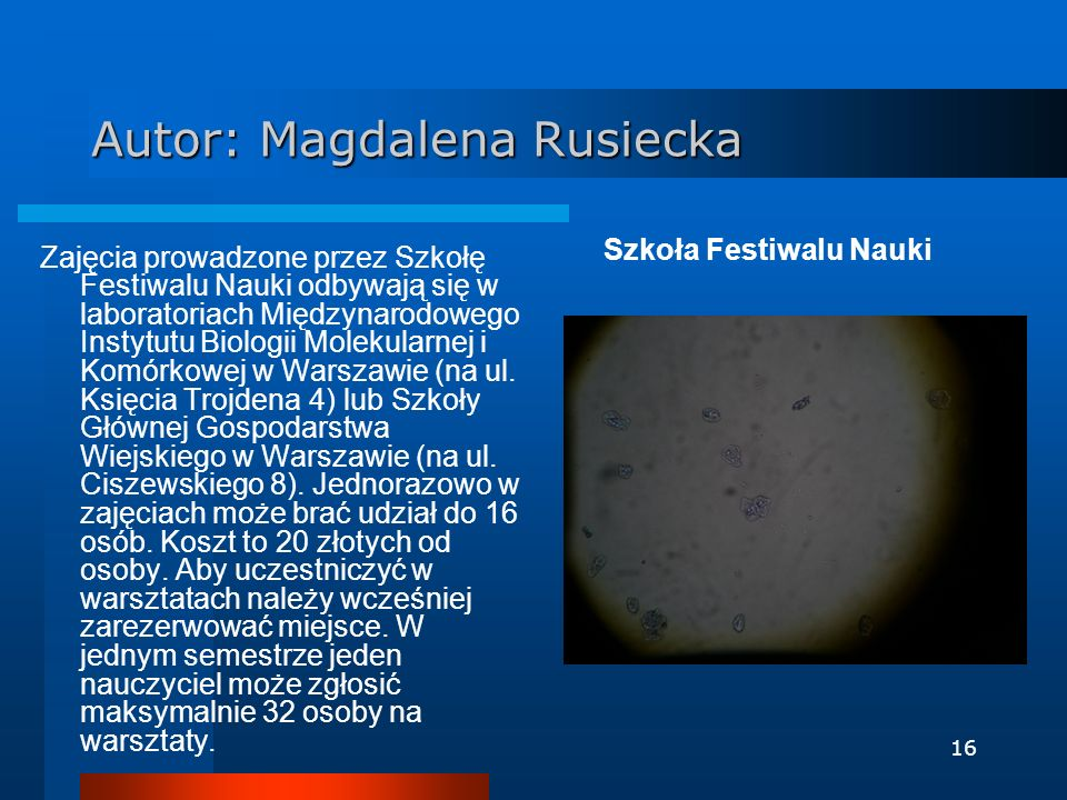 Autor: Magdalena Rusiecka