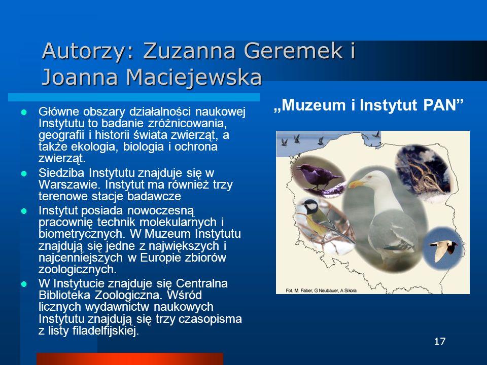 Autorzy: Zuzanna Geremek i Joanna Maciejewska