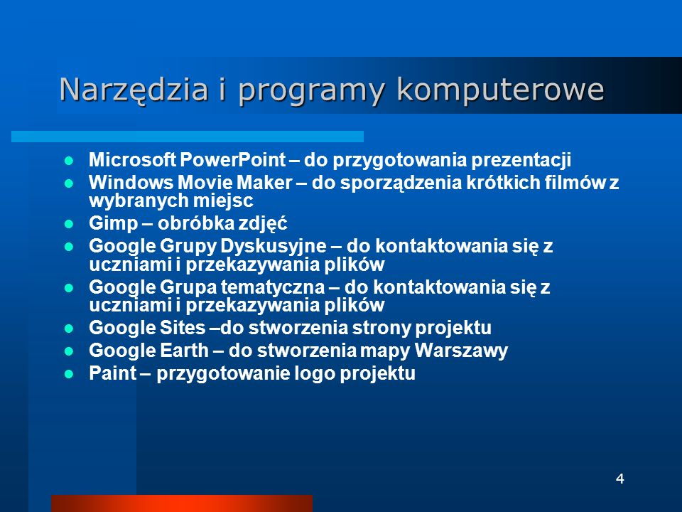 Narzędzia i programy komputerowe