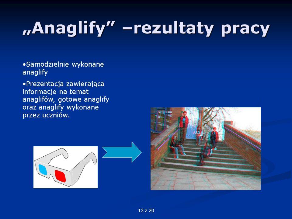 """Anaglify –rezultaty pracy"