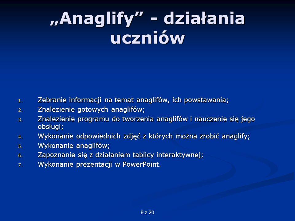 """""""Anaglify - działania uczniów"""
