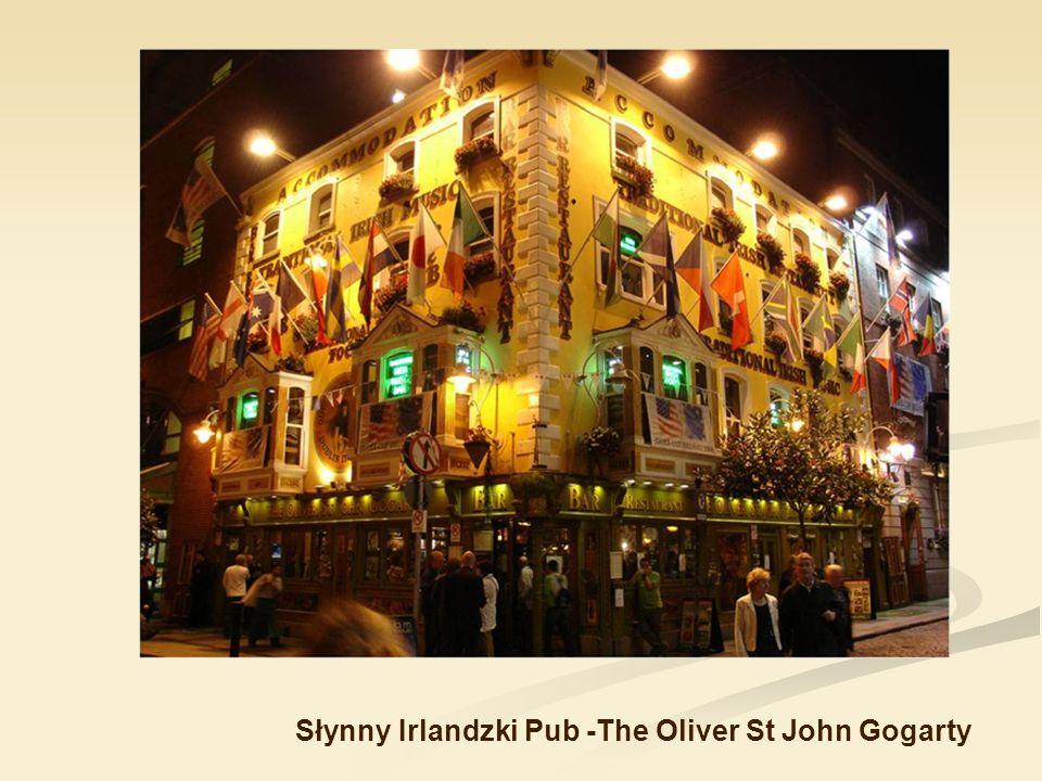 Słynny Irlandzki Pub -The Oliver St John Gogarty