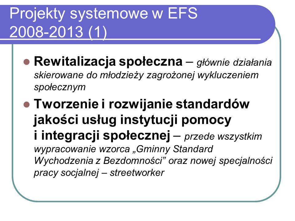 Projekty systemowe w EFS 2008-2013 (1)