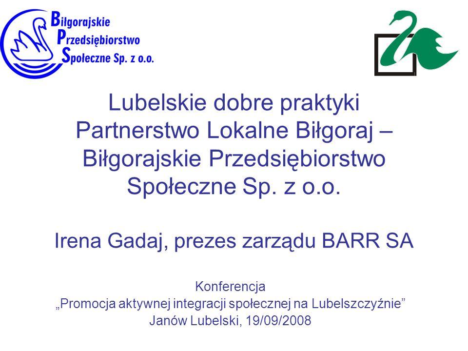 """""""Promocja aktywnej integracji społecznej na Lubelszczyźnie"""