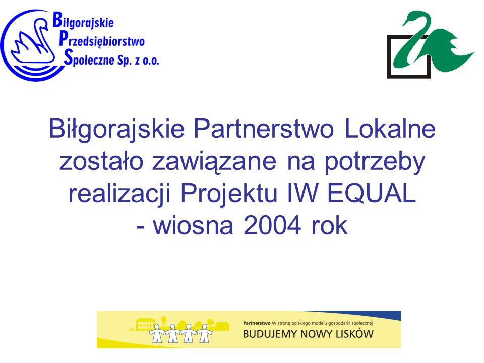Biłgorajskie Partnerstwo Lokalne zostało zawiązane na potrzeby realizacji Projektu IW EQUAL - wiosna 2004 rok