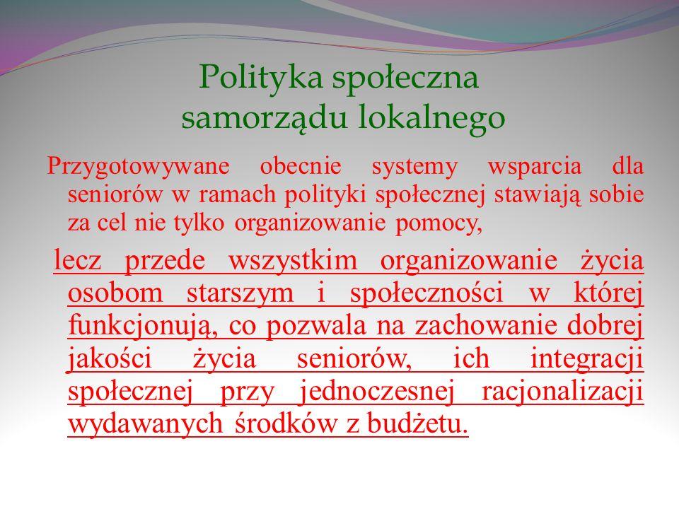 Polityka społeczna samorządu lokalnego