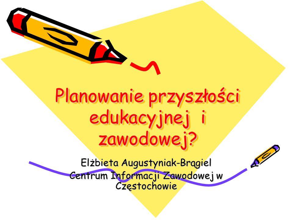 Planowanie przyszłości edukacyjnej i zawodowej