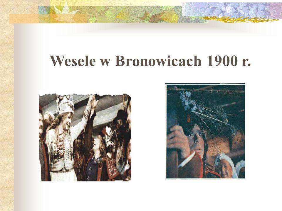 """Wesele w Bronowicach 1900 r. Kadry z filmu """"Wesele w reż."""