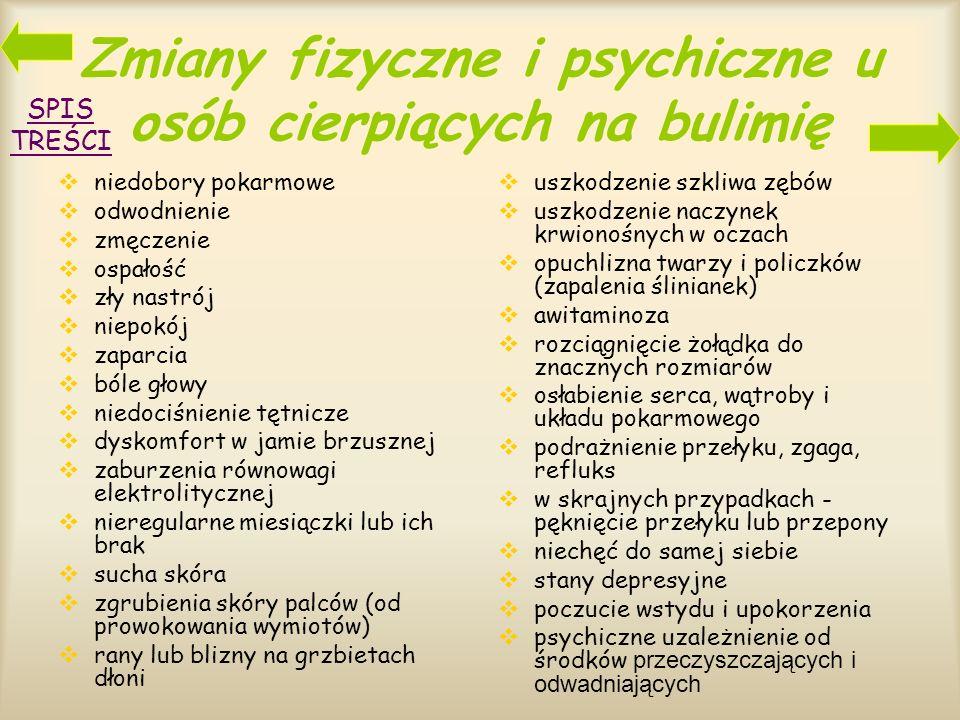 Zmiany fizyczne i psychiczne u osób cierpiących na bulimię