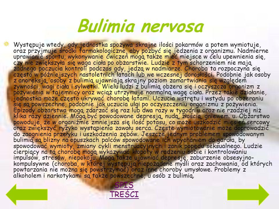 Bulimia nervosa SPIS TREŚCI