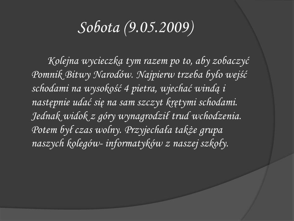 Sobota (9.05.2009)