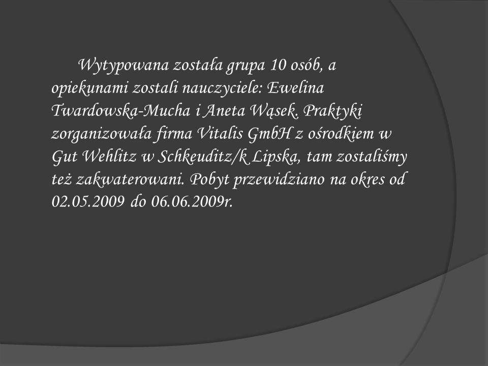 Wytypowana została grupa 10 osób, a opiekunami zostali nauczyciele: Ewelina Twardowska-Mucha i Aneta Wąsek.