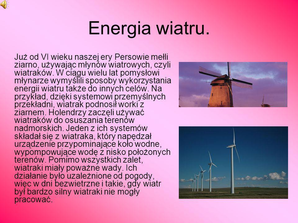 Energia wiatru.
