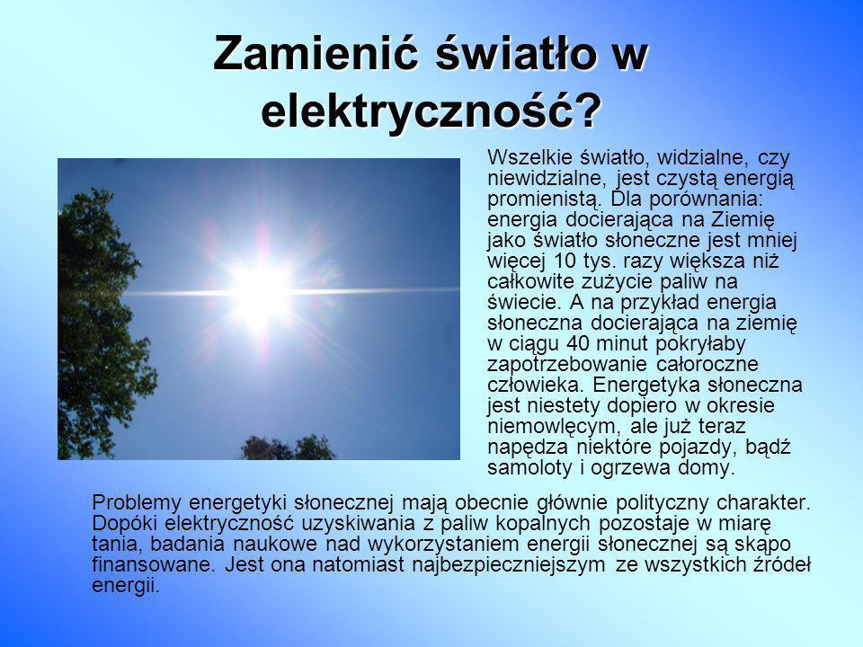 Zamienić światło w elektryczność