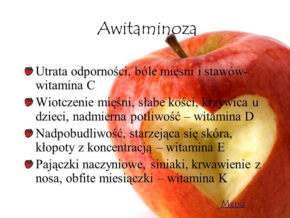 Awitaminoza Utrata odporności, bóle mięsni i stawów- witamina C