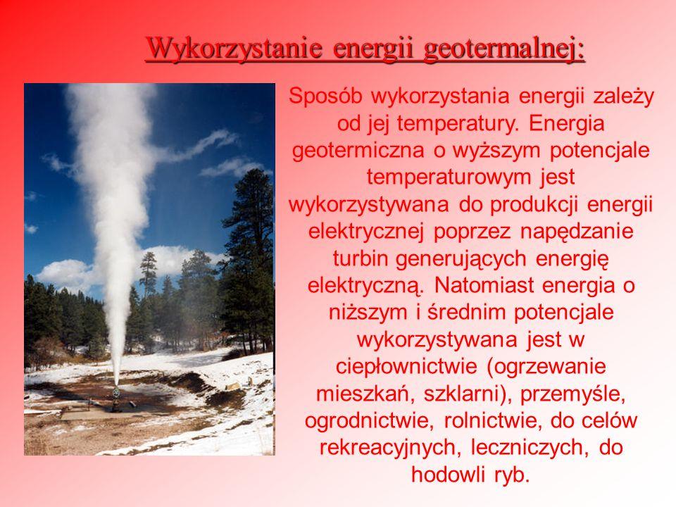 Wykorzystanie energii geotermalnej: