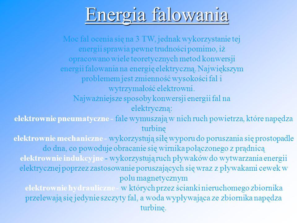 Najważniejsze sposoby konwersji energii fal na elektryczną: