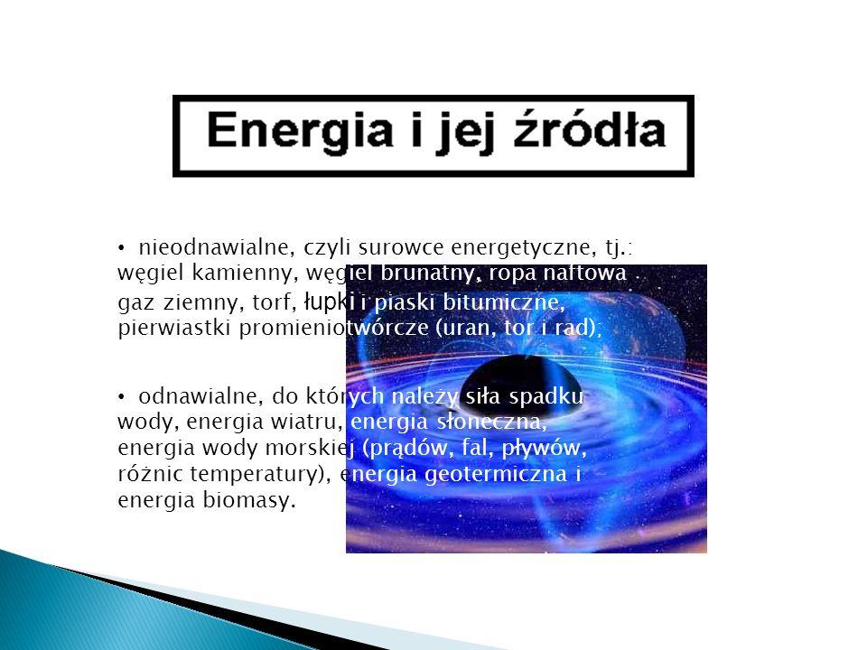 nieodnawialne, czyli surowce energetyczne, tj