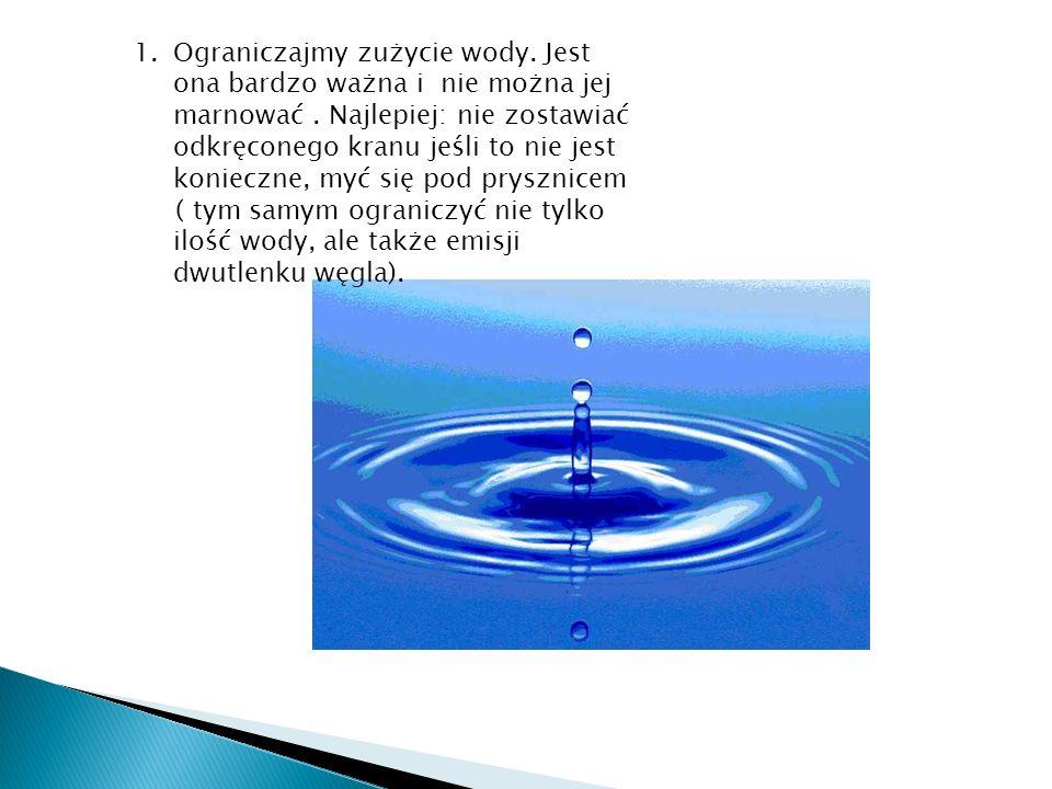 Ograniczajmy zużycie wody