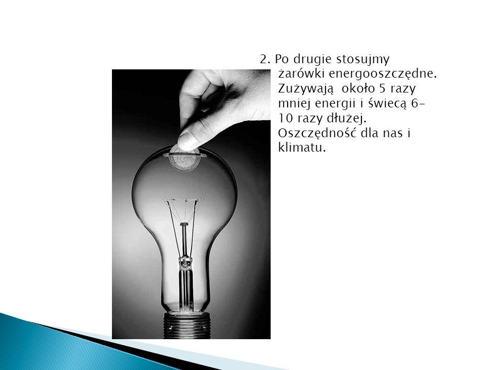 2. Po drugie stosujmy żarówki energooszczędne