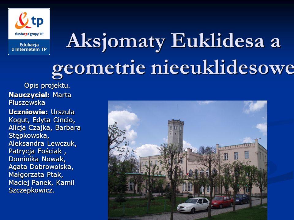 Aksjomaty Euklidesa a geometrie nieeuklidesowe