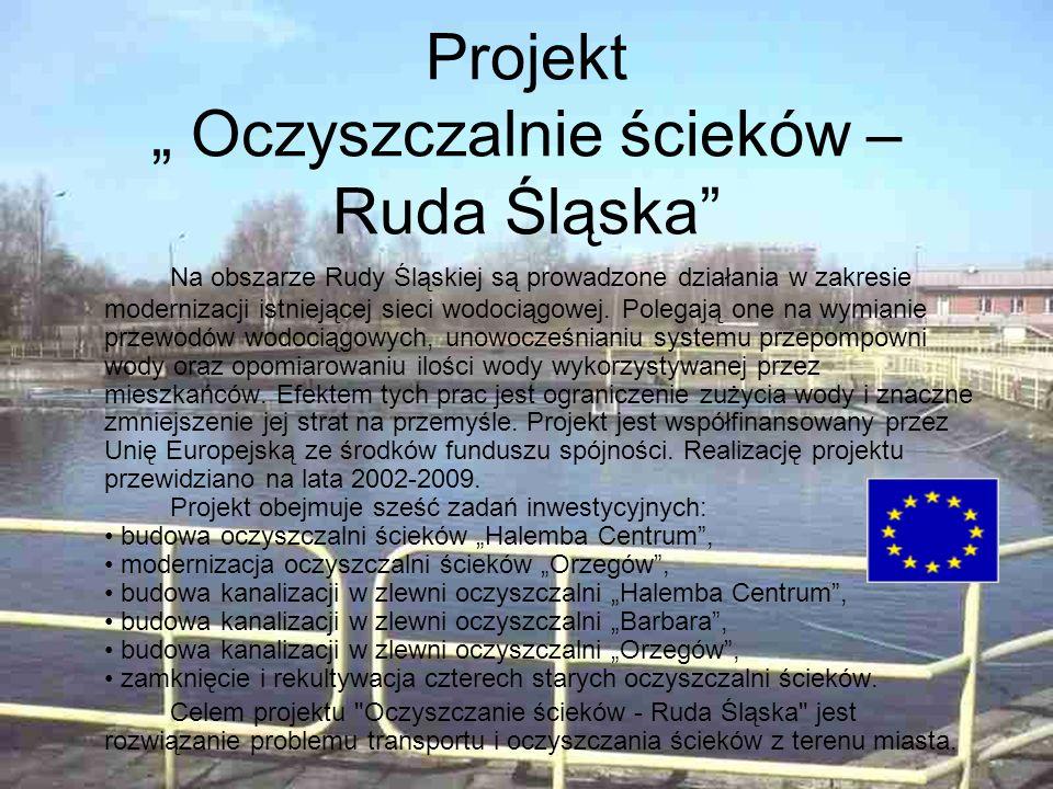 """Projekt """" Oczyszczalnie ścieków – Ruda Śląska"""