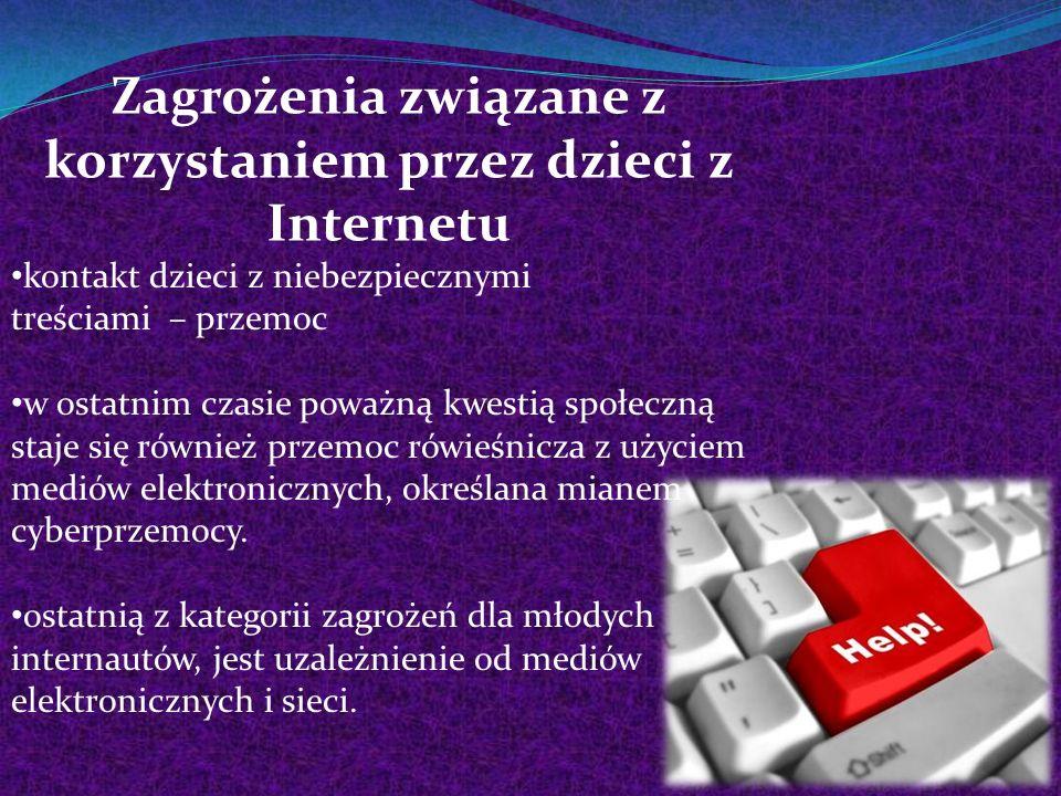 Zagrożenia związane z korzystaniem przez dzieci z Internetu