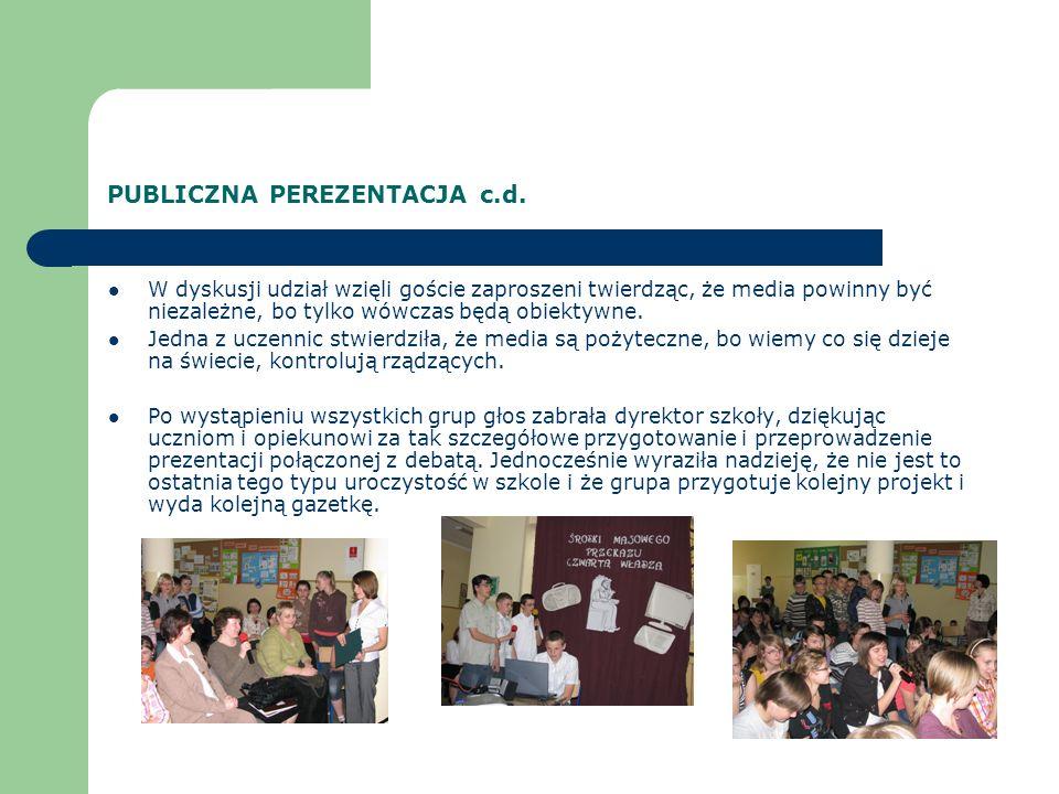 PUBLICZNA PEREZENTACJA c.d.