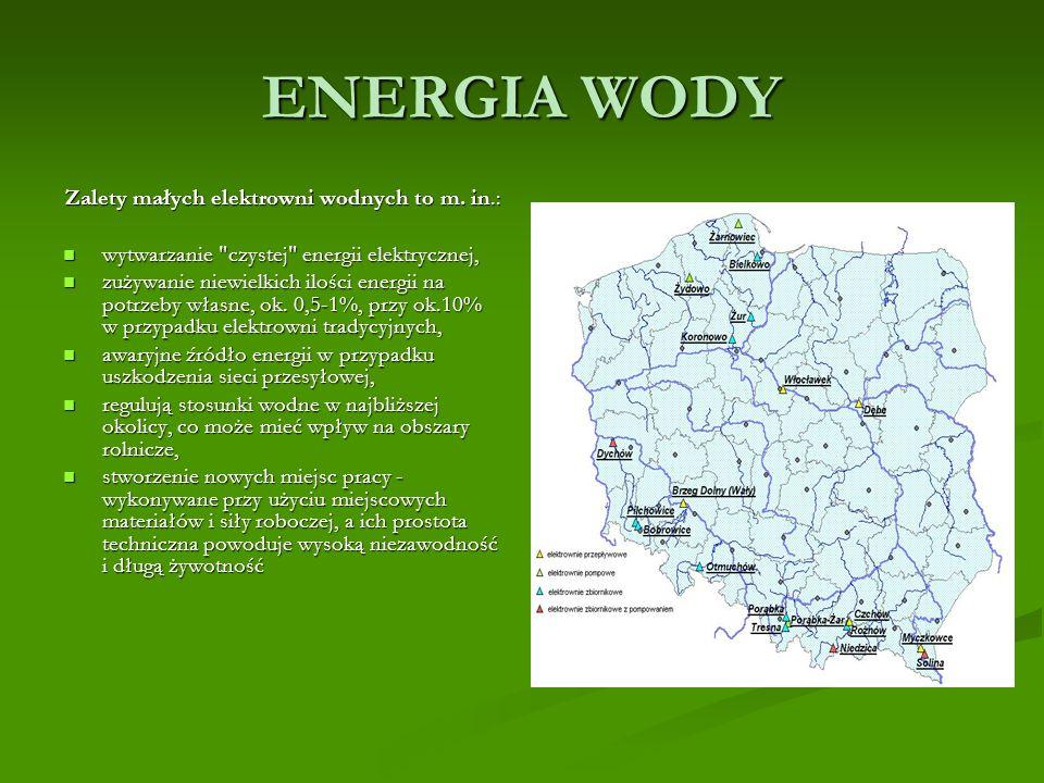 Zalety małych elektrowni wodnych to m. in.: