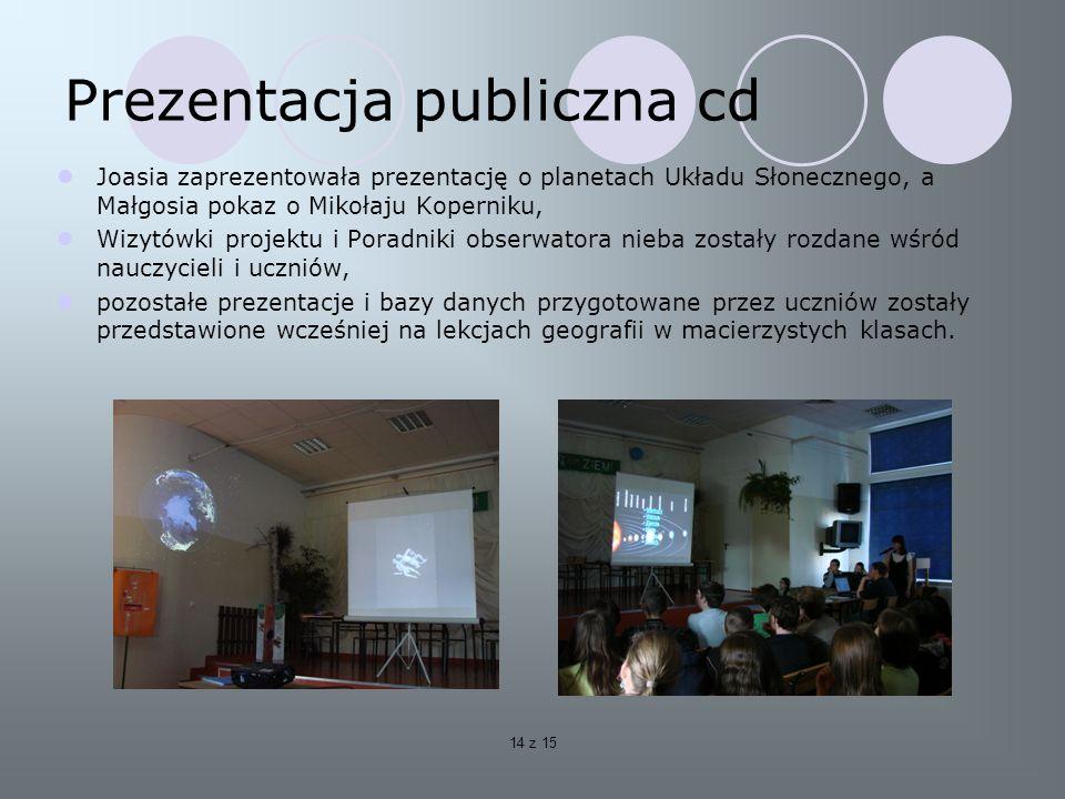 Prezentacja publiczna cd
