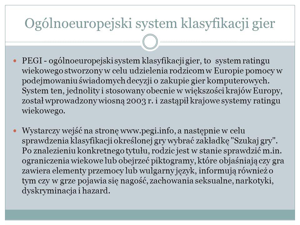 Ogólnoeuropejski system klasyfikacji gier