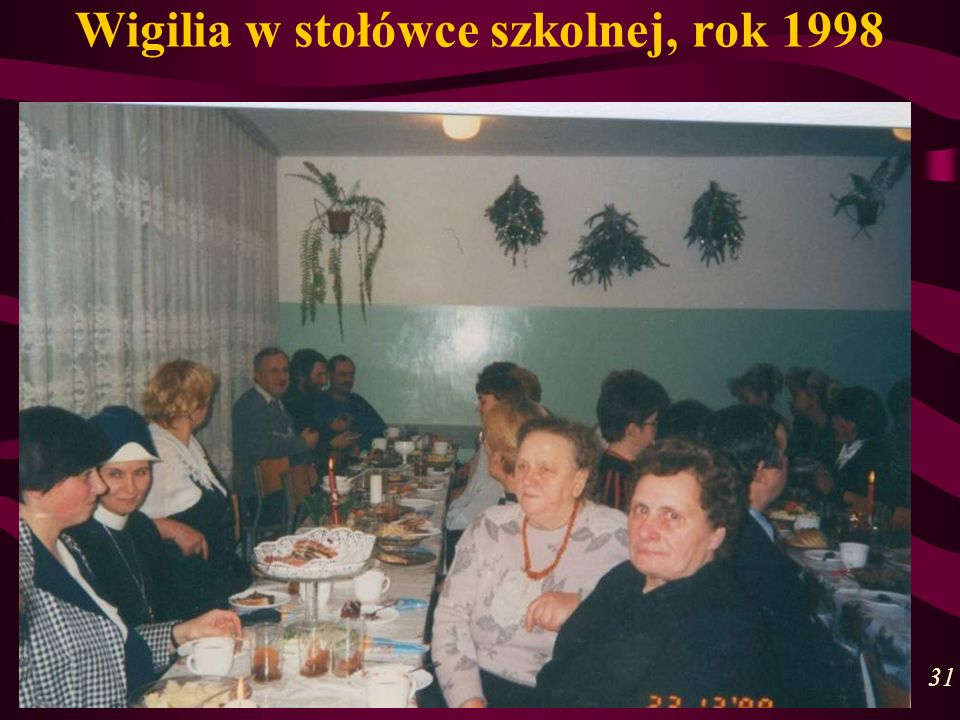Wigilia w stołówce szkolnej, rok 1998