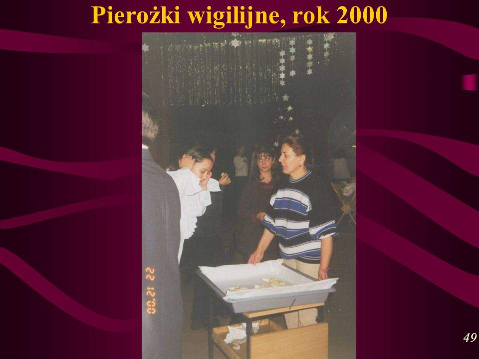 Pierożki wigilijne, rok 2000