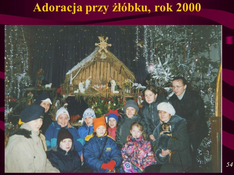 Adoracja przy żłóbku, rok 2000