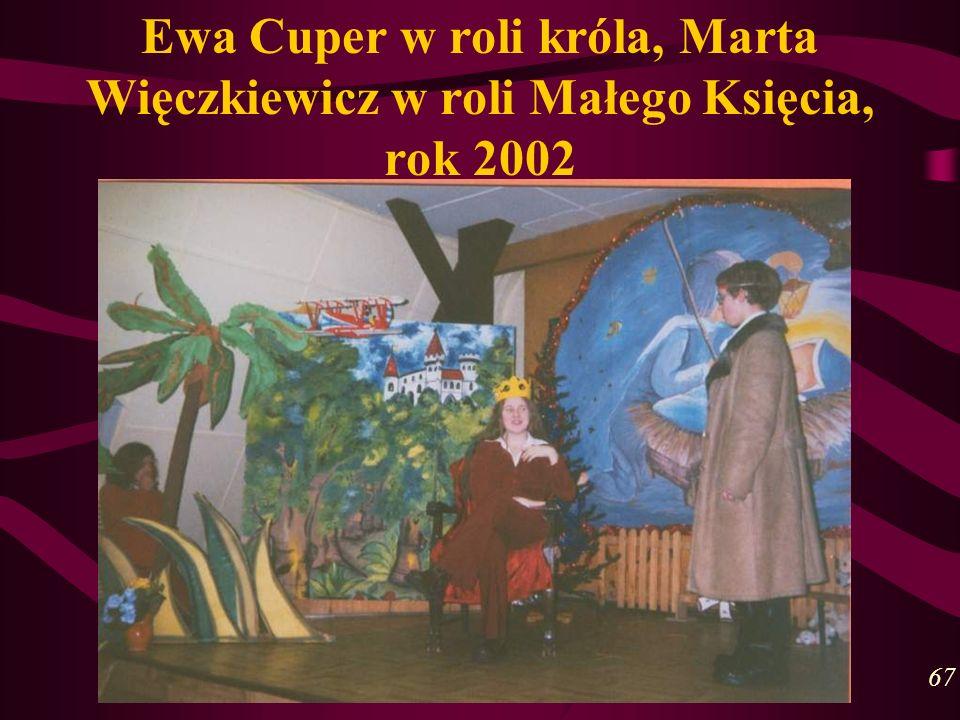 Ewa Cuper w roli króla, Marta Więczkiewicz w roli Małego Księcia, rok 2002