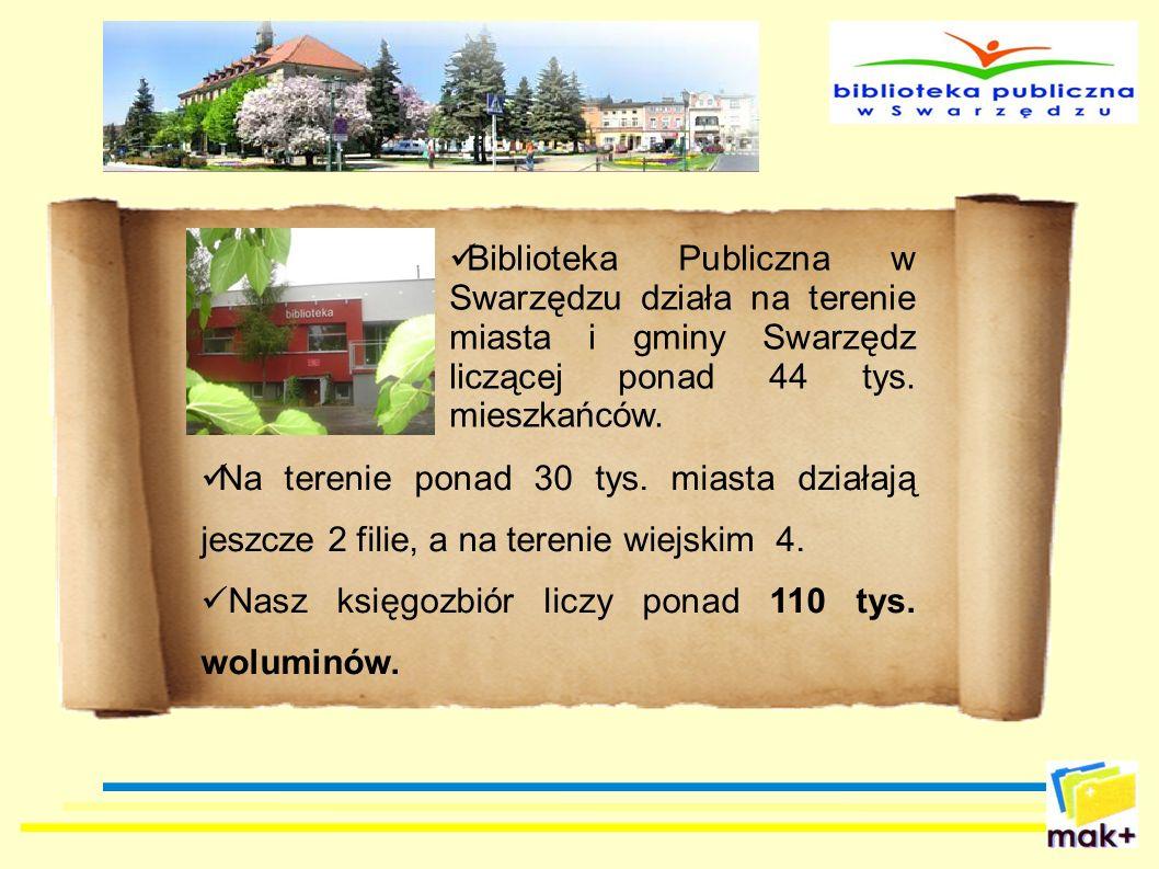 Biblioteka Publiczna w Swarzędzu działa na terenie miasta i gminy Swarzędz liczącej ponad 44 tys. mieszkańców.