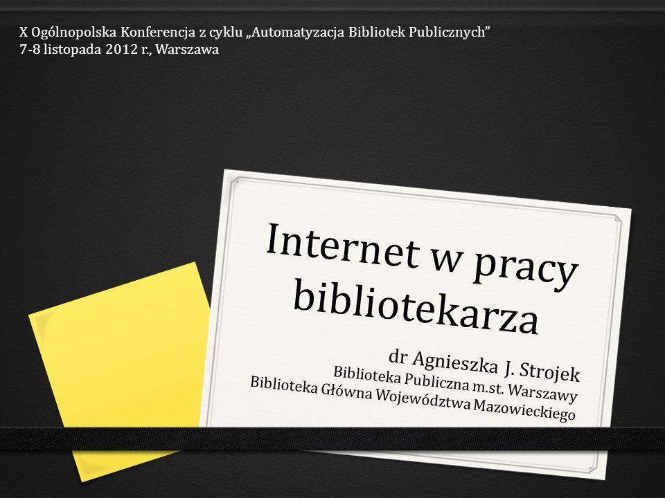 Internet w pracy bibliotekarza