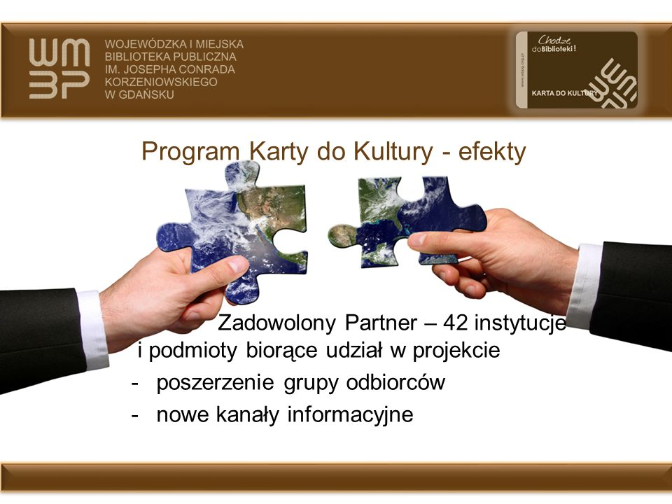 Program Karty do Kultury - efekty