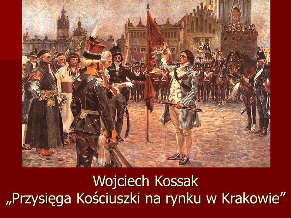 """Wojciech Kossak """"Przysięga Kościuszki na rynku w Krakowie"""