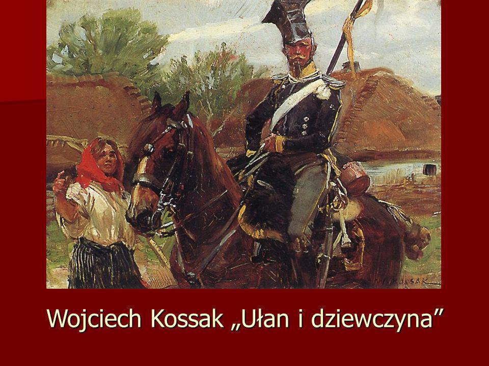 """Wojciech Kossak """"Ułan i dziewczyna"""