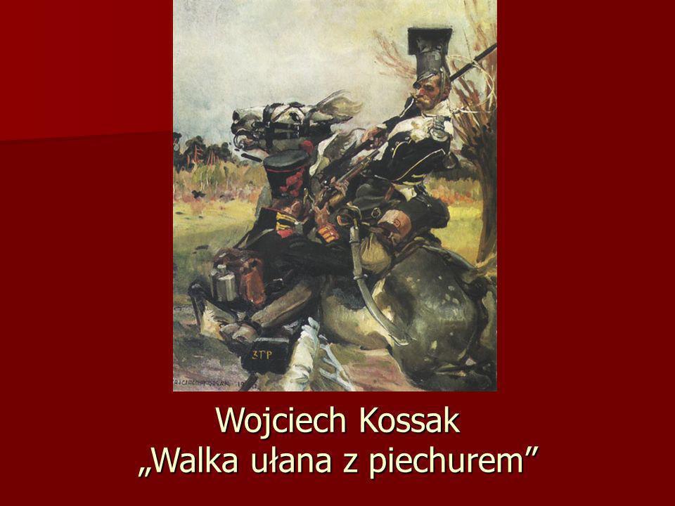 """Wojciech Kossak """"Walka ułana z piechurem"""